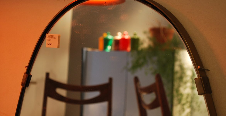 Grand miroir ovale le maga bruxelles for Prix grand miroir